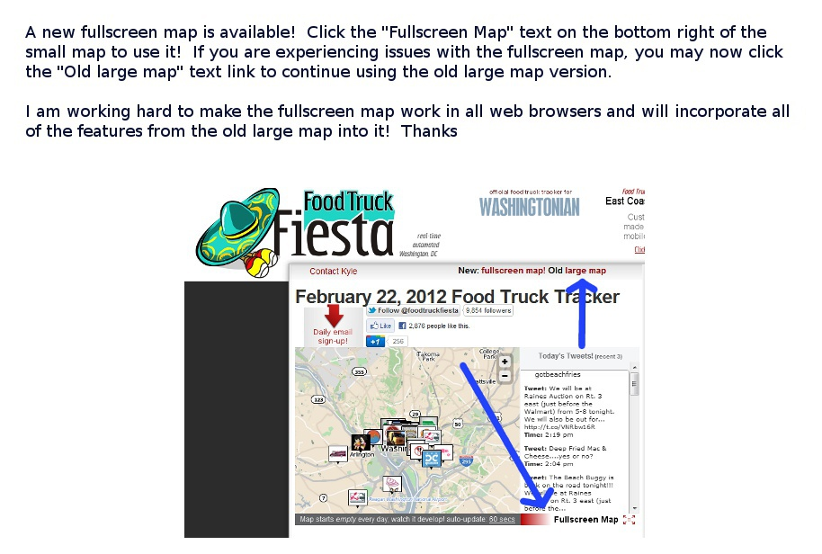 Food Truck Fiesta - a real-time automated DC food truck tracker with ...