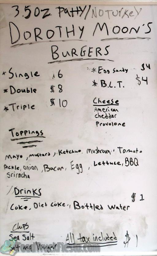 dorothy moons menu