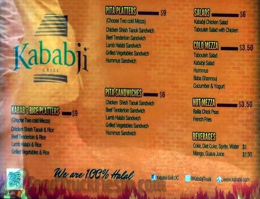 kababji menu