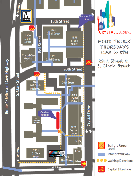 Crystal City\'s Food Truck Thursday Location Map | Food Truck Fiesta ...