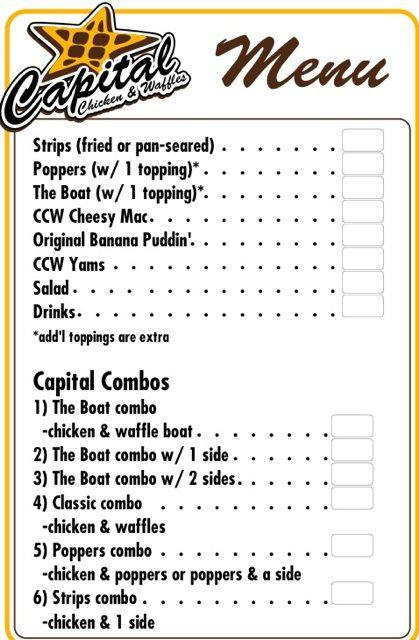 Capital Chicken Waffles Dc Food Truck Menu Food Truck Fiesta A