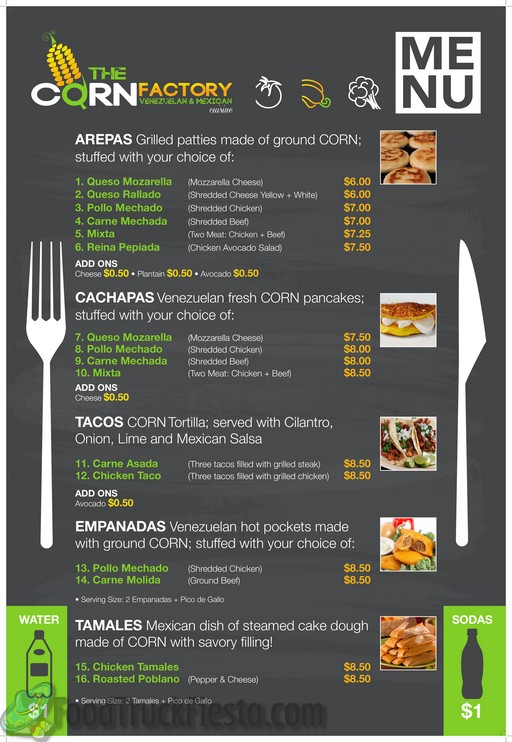The corn factory dc food truck food truck fiesta a for Kitchen 88 food truck utah menu